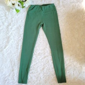 Jed North Activewear Leggings Size SM Green Full Length Workout Yoga Pants Gym